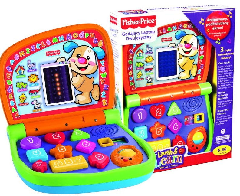 laptop fisher price zmniejszony