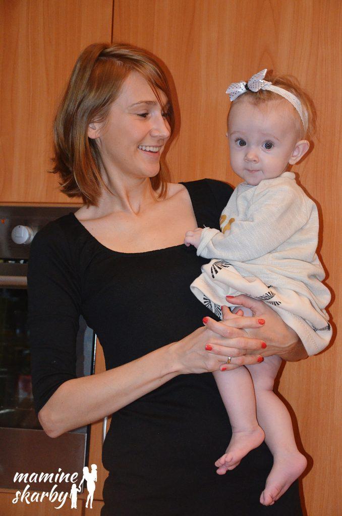 9 miesięcy Lila z mamą