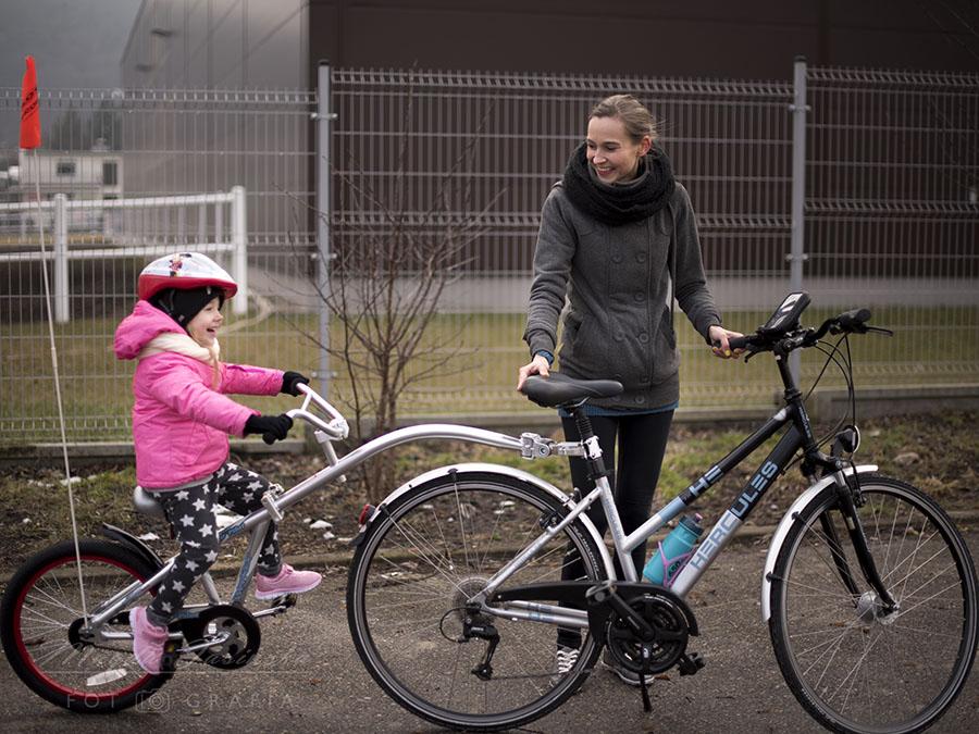 rowerek doczepiany
