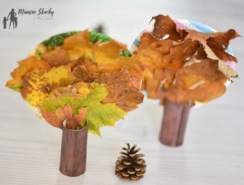 drzewa z liści