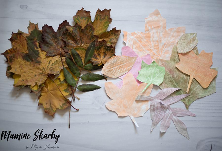 prace z liści