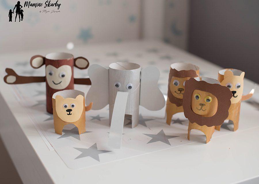 zwierzęta z rolek po papierze