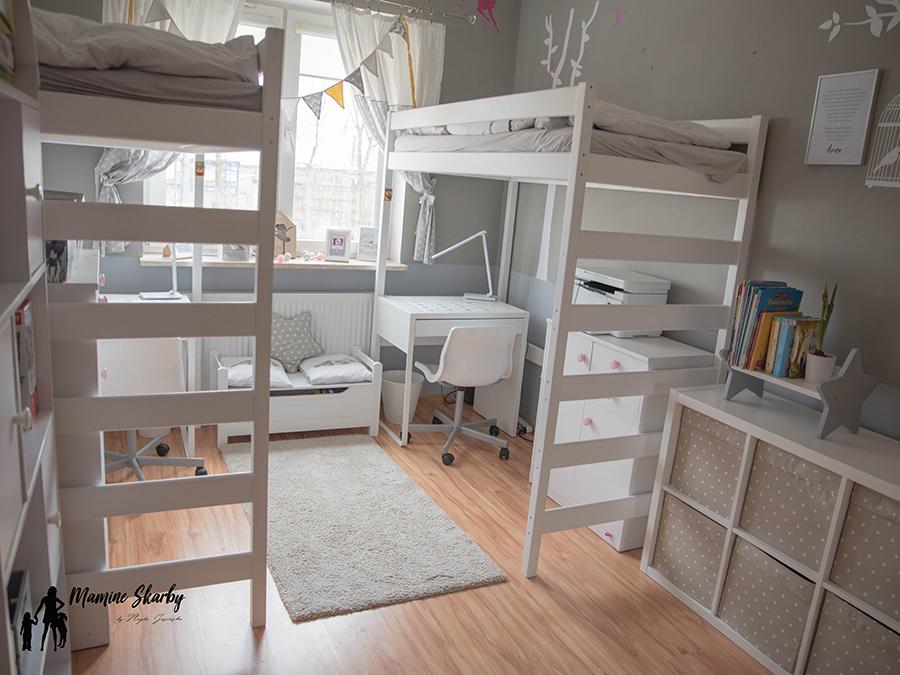 łóżko piętrowe na antresoli
