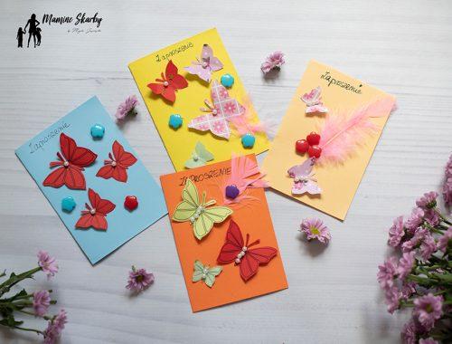 zaproszenia z motylami