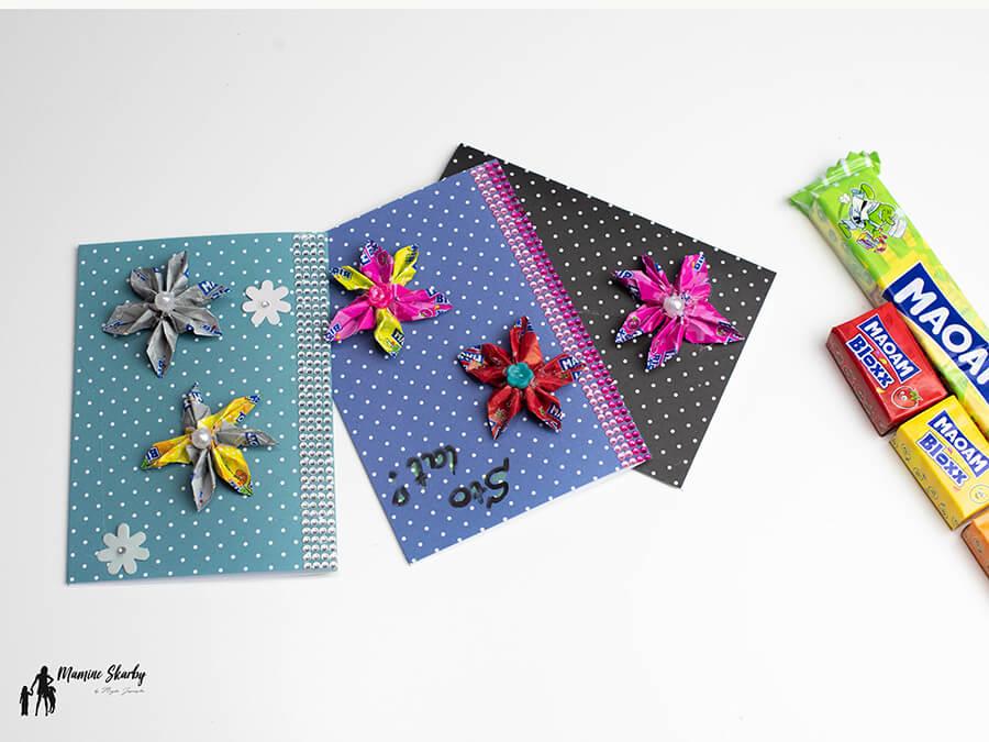 kwiaty z papierków