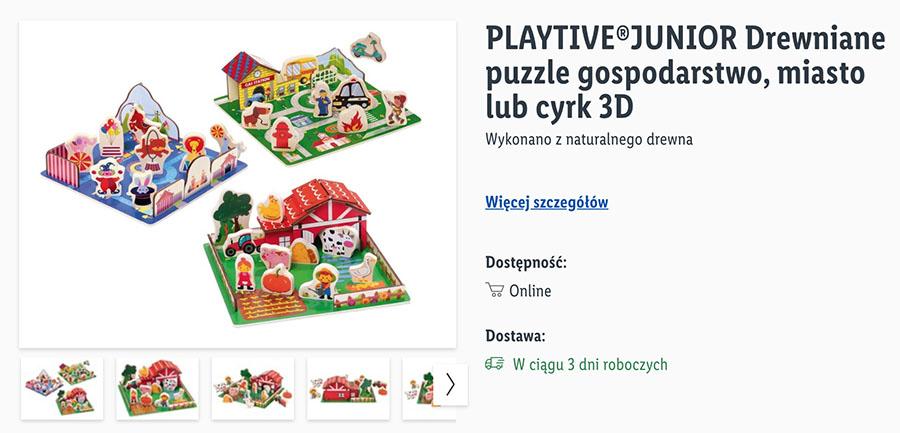 kreatywne zabawki puzzle