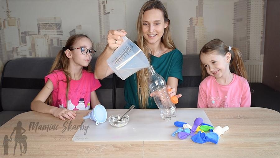 samopompujący się balon eksperyment