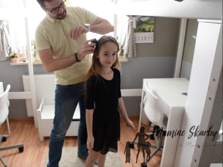 tata robi fryzurę