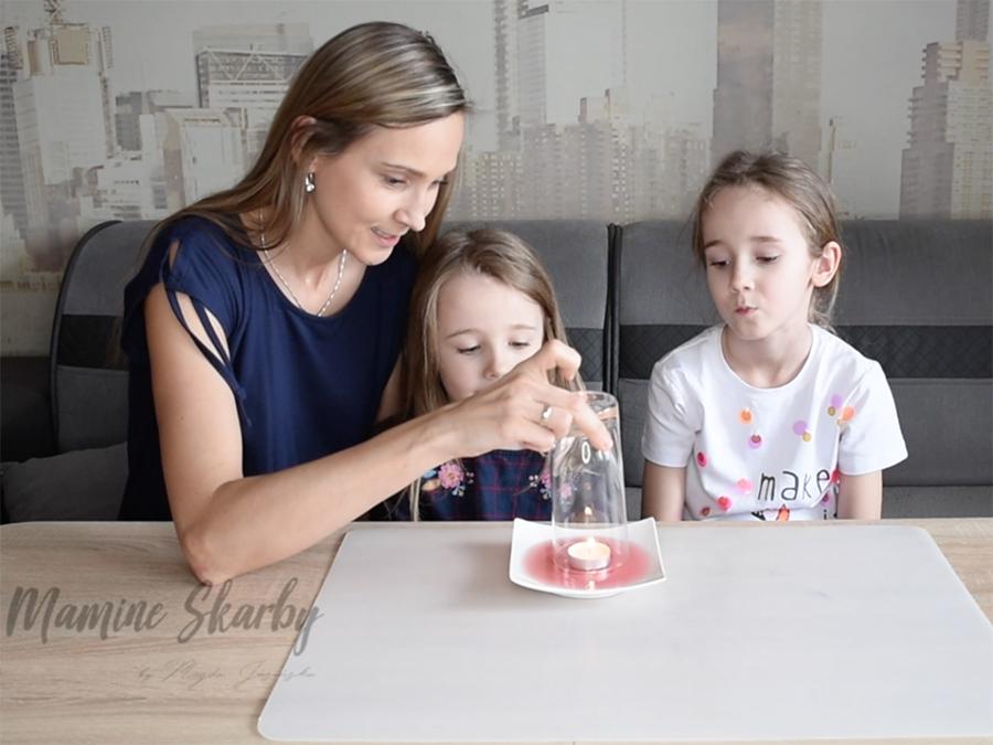 eksperyment świeca i woda