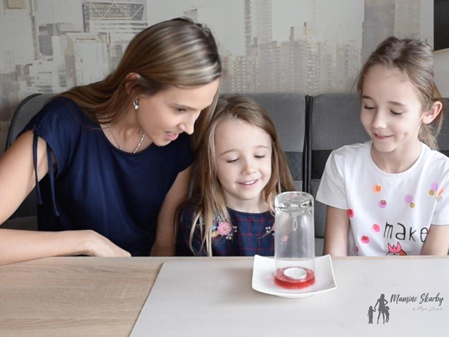 eksperyment dla dzieci świeca