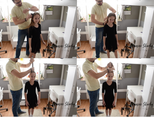 fryzura tata i córka