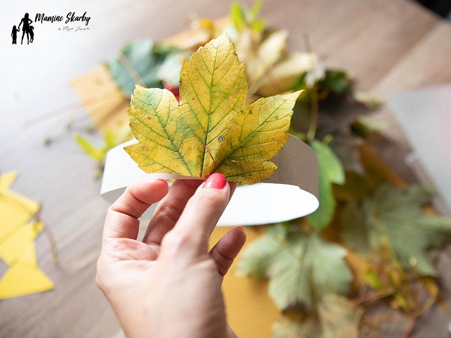 prace plastyczne z liści
