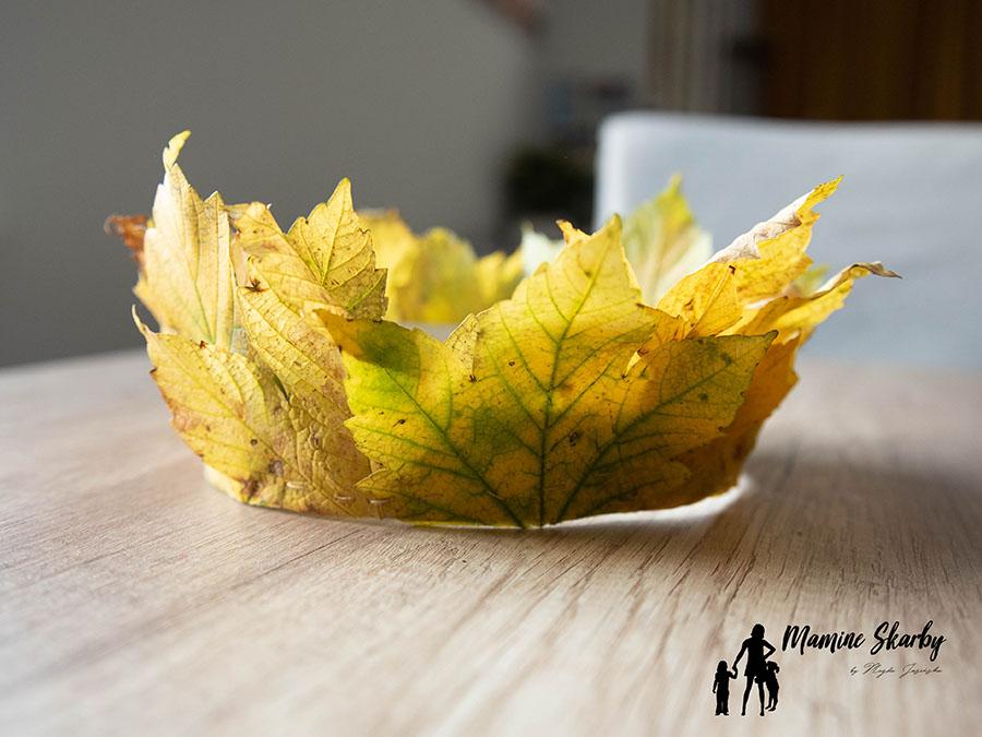 liście korona