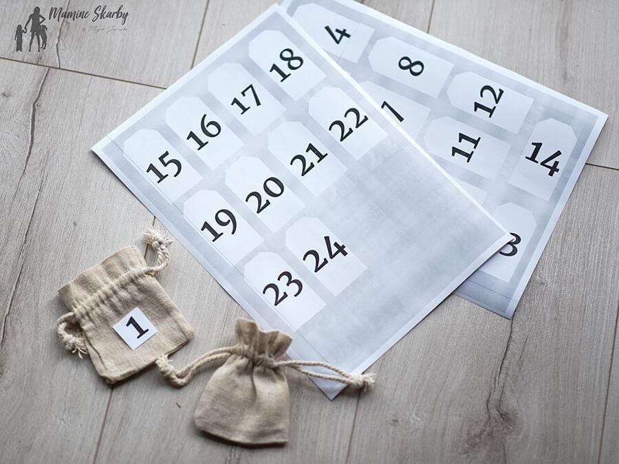 woreczki kalendarz adwentowy