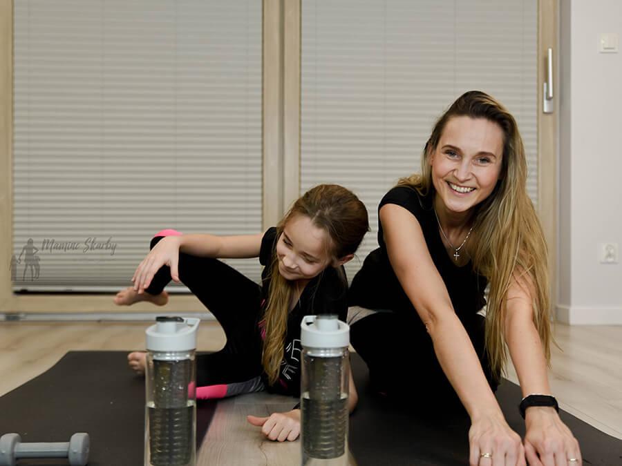 fitness mama i córka